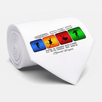 Cooler Ski ist es eine Lebensart Personalisierte Krawatten