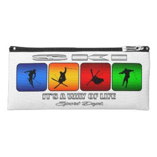 Cooler Ski ist es eine Lebensart Stiftetasche
