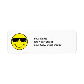 Cooler Smiley mit Sonnenbrillen