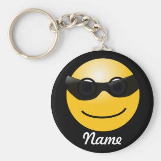 Cooler smiley-personalisierte Schlüsselkette Standard Runder Schlüsselanhänger