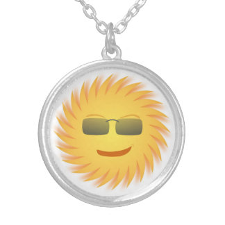 COOLER SMILEY VERSILBERTE KETTE