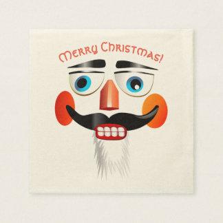 Cooler Snowman mit rosigen Backen Papierserviette