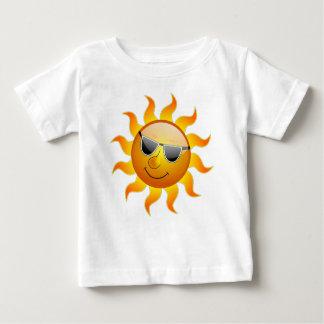 Cooler Sonnenschein-glatte Lächeln-Sommer-Hitze Baby T-shirt