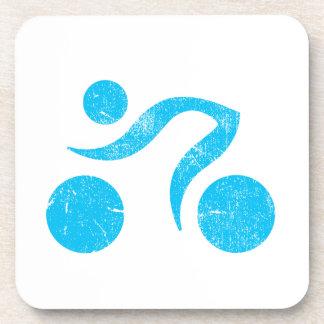 Cooler Sport entwirft, der Triathlon und fährt, Fo Getränkeuntersetzer