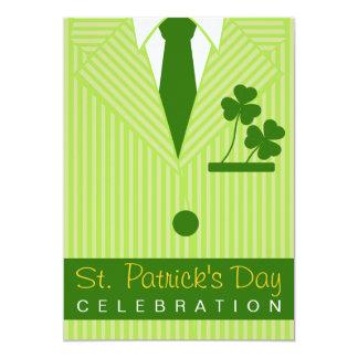 Cooler St Patrick TagesPartypinstripe-Anzug u. 12,7 X 17,8 Cm Einladungskarte