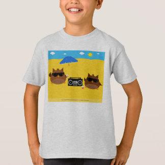 Cooler Strand-Eulen-Entwurf - KinderT - Shirts
