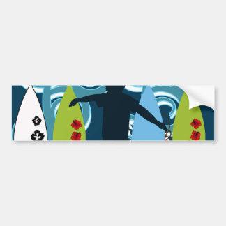 Cooler Surfer-Typ-surfender Strand-Ozean-Entwurf Autoaufkleber