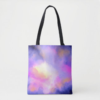 Cooler Surreal Wolkenwatercolor-Entwurf Tasche