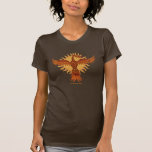 Cooler T - Shirtentwurf des Phoenix-Feuervogels T-Shirts