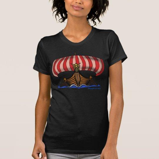 Cooler T - Shirtentwurf Wikinger-Schiffs T-Shirt