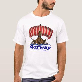 Cooler T - Shirtentwurf Wikinger-Schiffsnorwegens T-Shirt