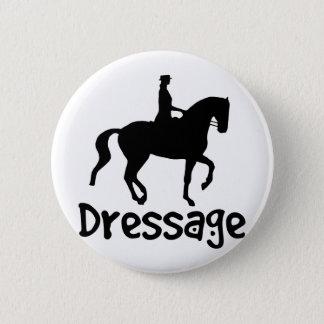 Cooler TextDressage mit Piaffe Pferd Runder Button 5,7 Cm
