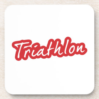 Cooler Triathlonentwurf Getränkeuntersetzer