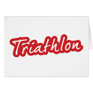 Cooler Triathlonentwurf Karte