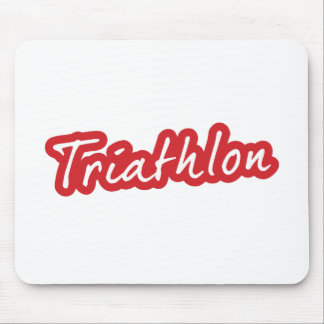 Cooler Triathlonentwurf Mousepad