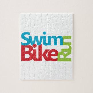 Cooler Triathlonentwurf Puzzle