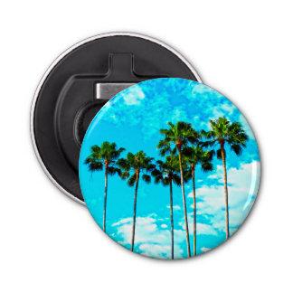 Cooler tropischer Palme-blauer Himmel Flaschenöffner