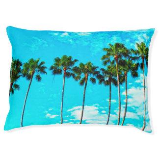 Cooler tropischer Palme-blauer Himmel Haustierbett