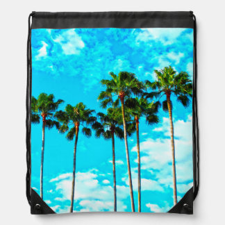 Cooler tropischer Palme-blauer Himmel Sportbeutel