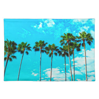 Cooler tropischer Palme-blauer Himmel Tischset