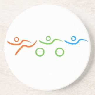 Cooler und einzigartiger Entwurf des Triathlon Getränkeuntersetzer