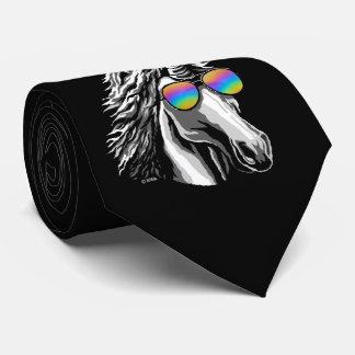 Cooler Unicorn mit Regenbogensonnenbrillen Krawatte