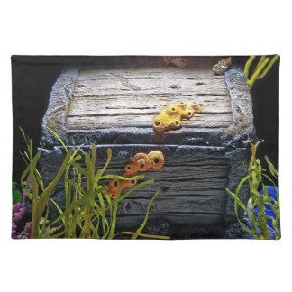 Cooler Unterwasserschatz-Kasten Stofftischset