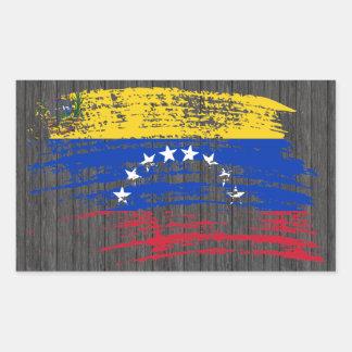 Cooler venezolanischer Flaggenentwurf Rechteckiger Aufkleber