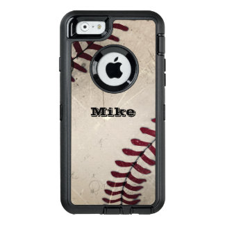 Cooler Vintager Grunge-Baseball personalisiert OtterBox iPhone 6/6s Hülle