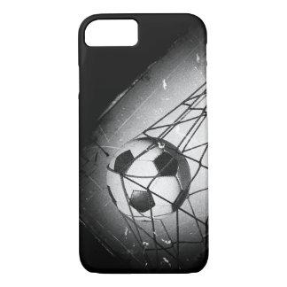 Cooler Vintager Grunge-Fußball im Ziel iPhone 8/7 Hülle