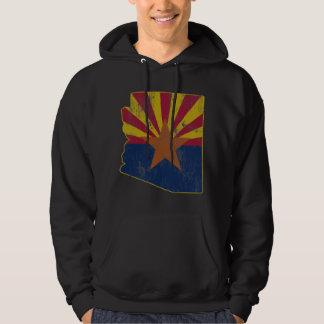 Cooler Vintager Staat der Arizona-Flaggen-Kontur Hoodie