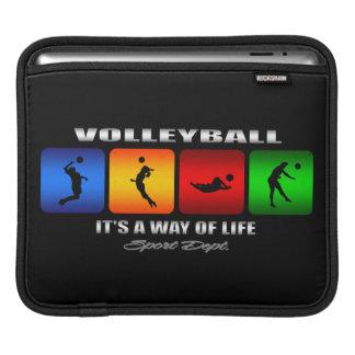 Cooler Volleyball ist es eine Lebensart iPad Sleeve