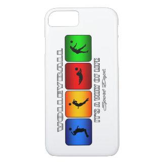 Cooler Volleyball ist es eine Lebensart iPhone 8/7 Hülle