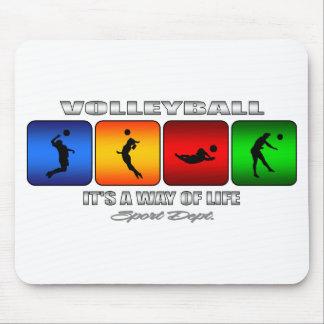 Cooler Volleyball ist es eine Lebensart Mauspads
