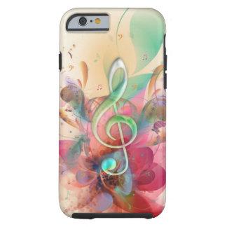 Cooler Wasserfarben Musiknoten-Wirbel dreifachen Tough iPhone 6 Hülle
