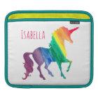 Cooler Watercolor-RegenbogenUnicorn scherzt Sleeve Für iPads