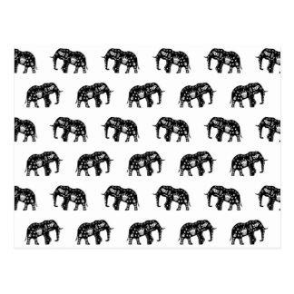 Cooles Afrika-Muster-Elefant-Bild Postkarte