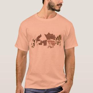 Cooles afrikanisches Dorf-T-Stück für Männer T-Shirt