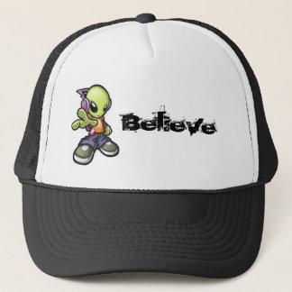 Cooles alien - glauben Sie Hut Truckerkappe