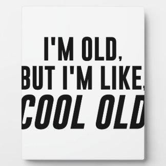 Cooles altes fotoplatte