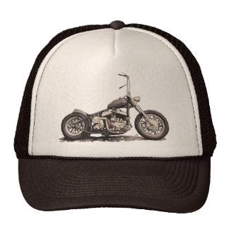Cooles altes Motorrad Baseball Kappe