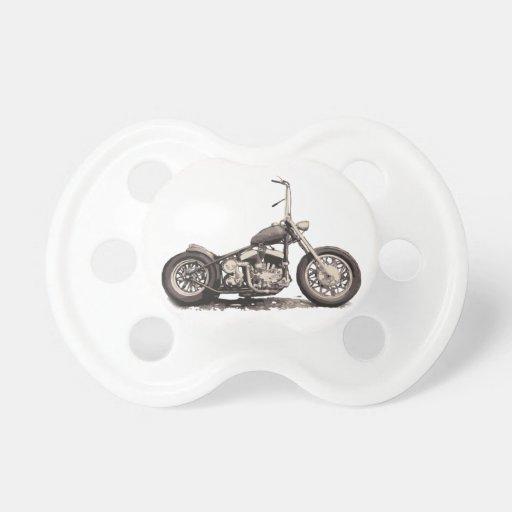 Cooles altes Motorrad Baby Schnuller