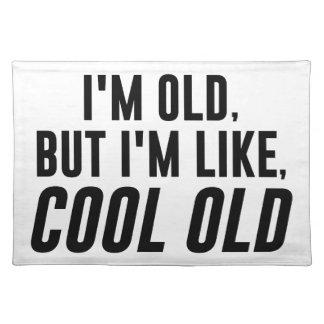 Cooles altes stofftischset
