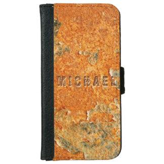 Cooles altes verrostetes Eisen-Metall iPhone 6/6s Geldbeutel Hülle