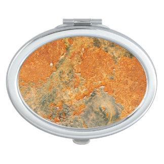 Cooles altes verrostetes Eisen-Metall Taschenspiegel