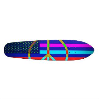 Cooles amerikanische Flaggen-und Friedenszeichen-B Bedruckte Skateboarddecks