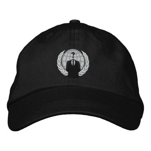 Cooles ANONYMES Firmenzeichen gestickte Kappe Bestickte Baseballcaps