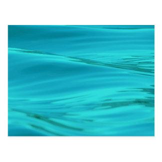Cooles Aqua-blaue Sommer-Wasser-Kräuselungen Postkarten