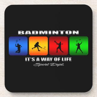 Cooles Badminton ist es eine Lebensart Untersetzer