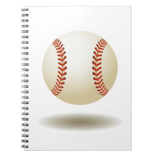 Cooles Baseball-Emblem-Notizbuch Spiral Notizblock